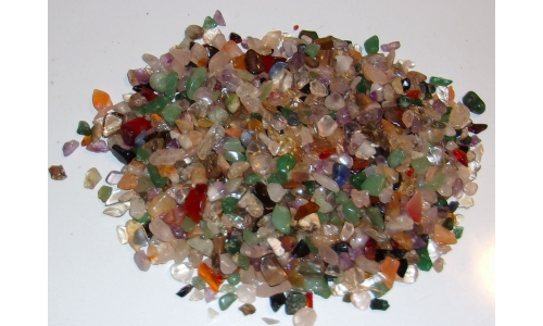 1/2 Pound Polished Gemstones 5 to 20 MM 913F
