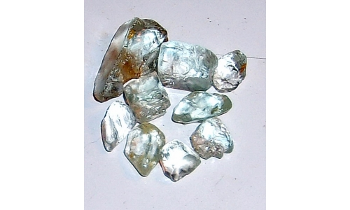 10 to 22 MM Blue African Topaz Facet Grade Rough 30 cts 992F
