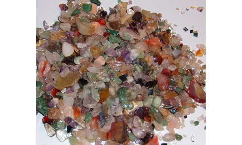 1/2 Pound Polished Gemstones 5 to 20 MM 1058F