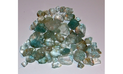 5 to 25  MM Blue Africian Topaz Rough 575 cts 1102F