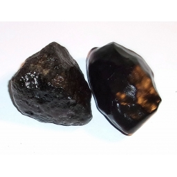 1/2 Pound Black Agate 55 MM ..