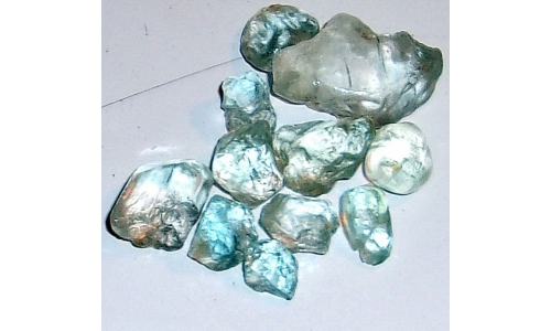 10 to 25 MM Blue African Topaz Facet Grade Rough 100 cts 1135F