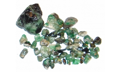 Colombian Emerald Rough Natural 250 cts 5 to 35 MM 1202F