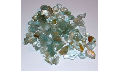 10 to 25  MM Blue Africian Topaz Rough 500 cts 1264F