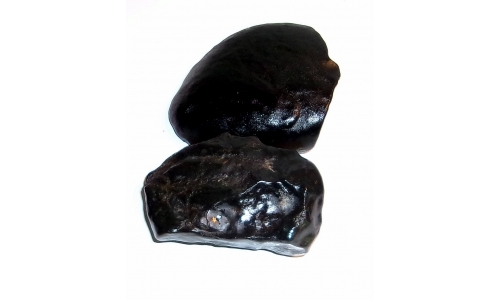 1/2 Pound Black Agate 70 to 75 MM 1308F
