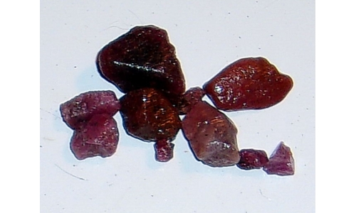 Ox Blood Ruby Rough North Carolina 30 cts 4 to 15 MM 1326F