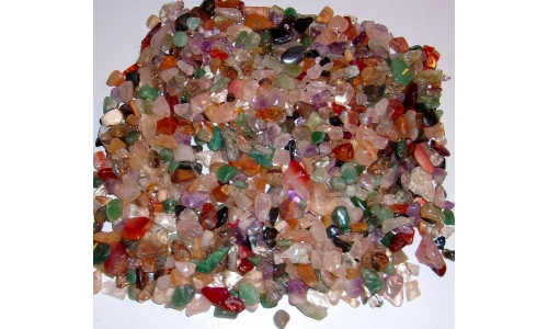 1/2 Pound Polished Gemstones 5 to 20 MM 1373F