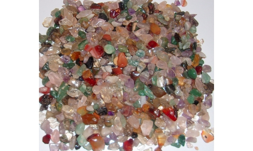 1/2 Pound Polished Gemstones 5 to 20 MM 1427F