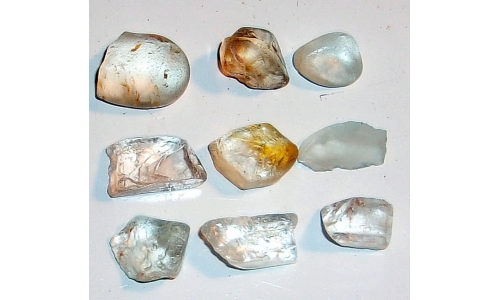 12 to 18 MM African Riverbed Topaz Facet Grade Rough 120 cts 1497E