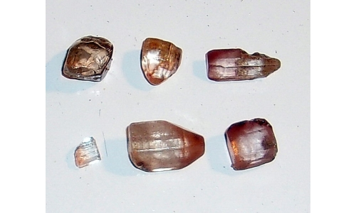 5 to 15 MM Brazilian Topaz Facet Grade Rough 30 cts 1551F
