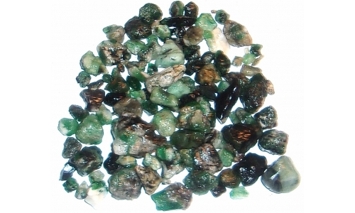 Colombian Emerald Rough Natural 180 cts 5 to 17 MM 1558F