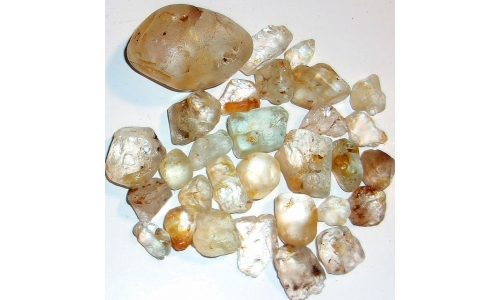 15 to 40 MM African Riverbed Topaz Rough 500 cts 1595F