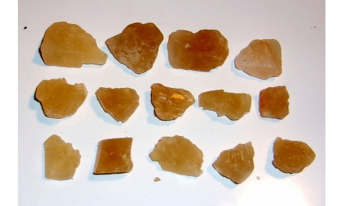 Honey Calcite Natural 15 to 30 MM 450 cts 1612F