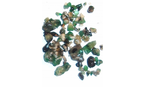 Colombian Emerald Rough Natural 40 cts 5 to 15 MM 1682F