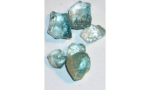 10 to 14 MM Blue African Topaz Facet Grade Rough 40 cts 1705F