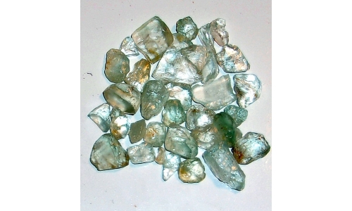 10 to 20  MM Blue Africian Topaz Rough 300 cts 1708F