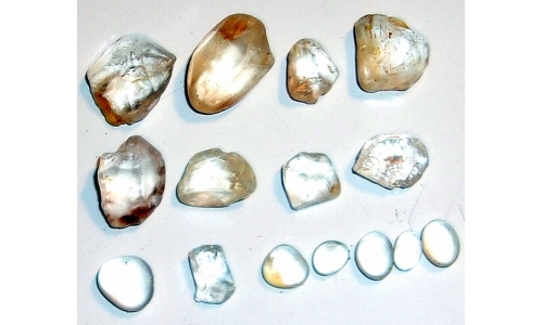 6 to 20 MM African Riverbed Topaz Facet Grade Rough 90 cts 1795F