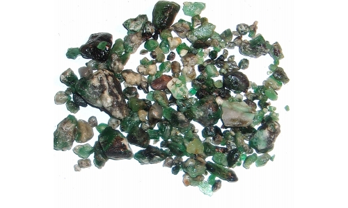 Colombian Emerald Rough Natural 190 cts 5 to 22 MM 1841F