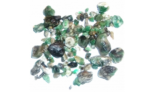 Colombian Emerald Rough Natural 140 cts 5 to 16 MM 1843F