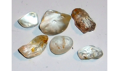 13 to 20 MM African Riverbed Topaz Facet Grade Rough 70 cts 020G