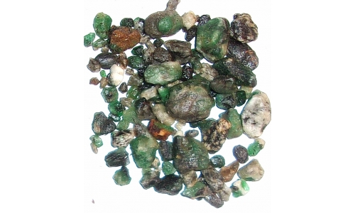 Colombian Emerald Rough Natural 150 cts 5 to 15 MM 130G