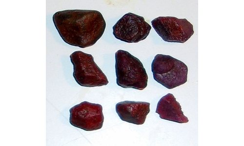 Ox Blood Ruby Rough North Carolina 68 cts 7 to 13 MM 138G