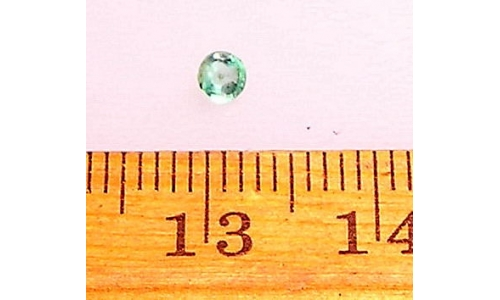 .15 cts  3mm natural Loose faceted Colombian Emerald for sale r324