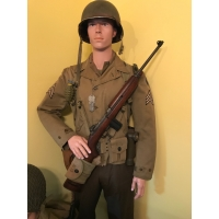 US WWII 29th Inf Div Sergeant Uniform Display with Equipment & Mannequin