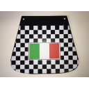Mudflap - Chequered with Italian Flag Design