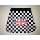 Mudflap - Chequered with Union Jack Flag Design