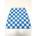 Mudflap - Chequered - Light Blue & white