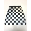 Mudflap - Chequered - Silver & Black