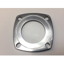 Rear hub bearing plate, stainless steel, 0.5 / 0.7mm recess MB