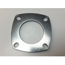 Rear hub bearing plate, stainless steel, flat / 0.3mm recess, MB