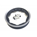SIP Tubeless Wheel Rim In Black With Polished Aluminium Lip