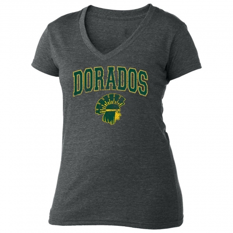 Distressed Dorados V-Neck Tshirt