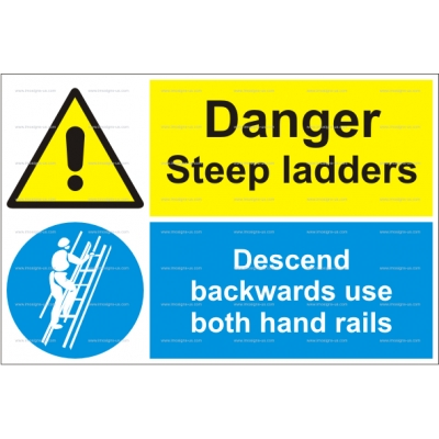 15.026 IMPA 33.3116 Danger - Steep Ladders 200х300mm