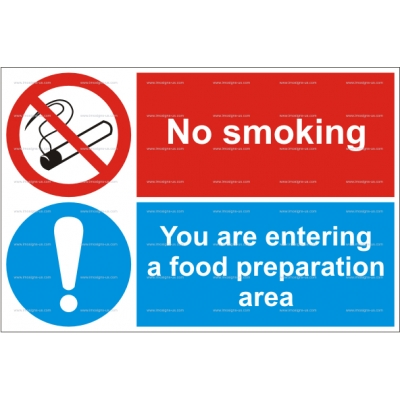 15.041 IMPA 33.3522 No smoking - You are entering food area 200x300mm