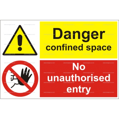 15.042 IMPA 33.3120 Danger Confined Space - No entry 200x300mm
