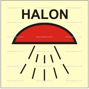 3.017 IMPA 33.6011 Space protected by halon 1301 150x150mm
