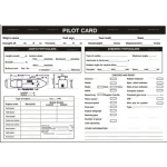 9.062 IMPA 33.1511 Pilot card 320x450mm