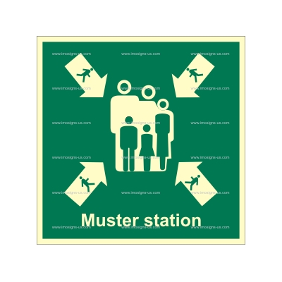2.020.1 IMPA 33.4141 Muster Station with text 150x150mm