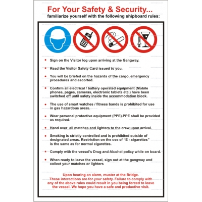 9.112 Security Notice For your safety and security 900x600mm