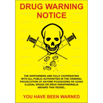 9.050 IMPA 33.1538 Drugs Warning Poster 105x150mm