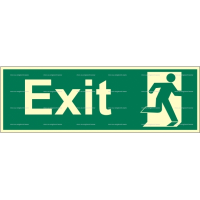 2.117.14 Exit Right without arrow 100x300mm