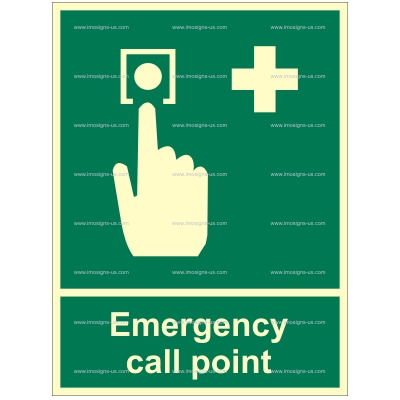 2.109.1 Emergency call point 200x150mm