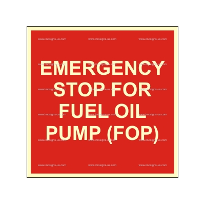 3.208 Emergency stop for fuel oil pump FOP150x150mm