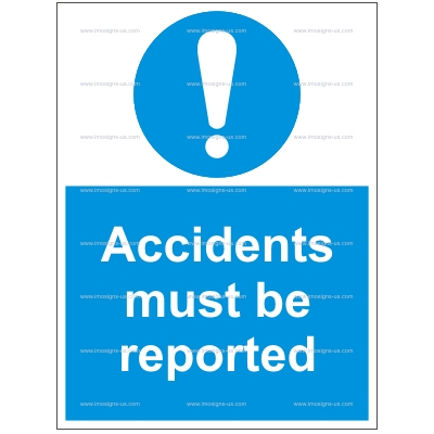 4.013.10 IMPA 33.5851 Accidents must be reported 100x300 mm