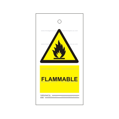 7.010 IMPA 33.2508 Tie tag, Flammable 150x75mm