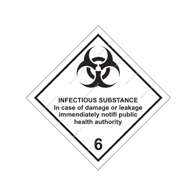 8.017 IMPA 33.2216 Class 6, Infectious substance 250x250mm